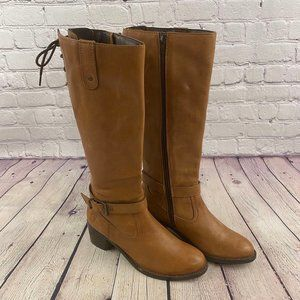 Ralph Lauren Youth Girls Fashion Leather Boots